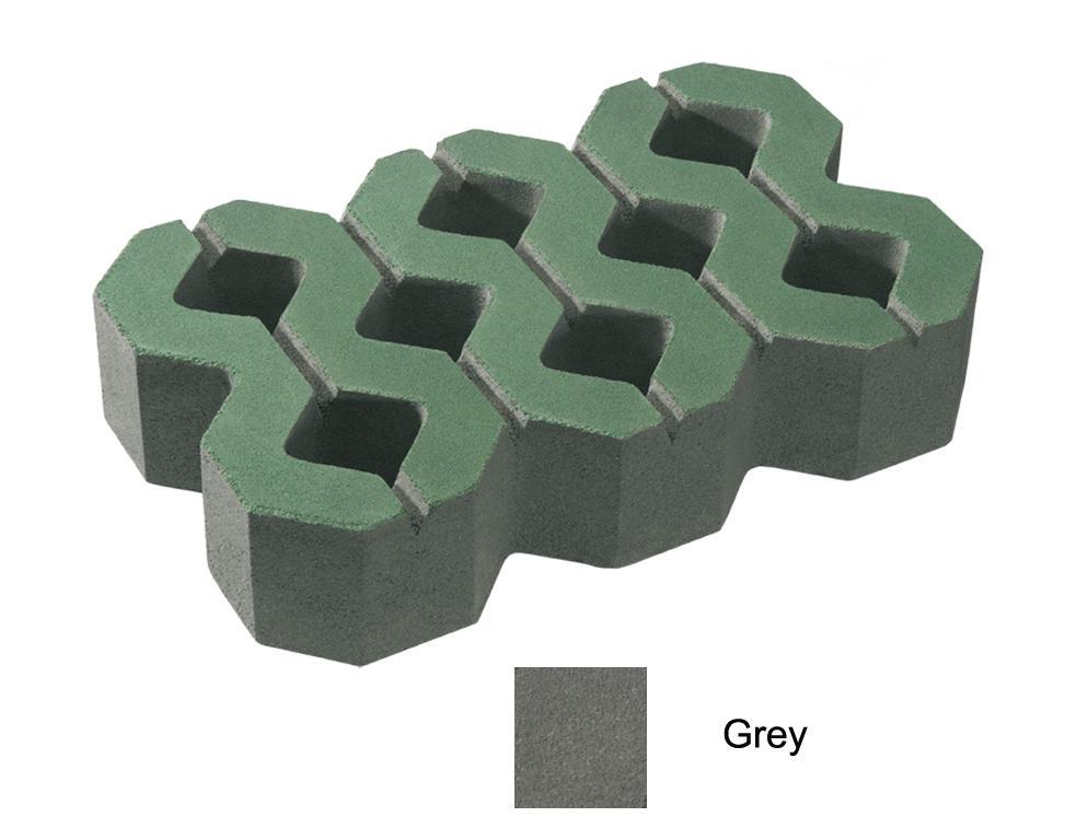 บล็อกปูพื้น เอสซีจี รุ่น บล็อกสนามหญ้า 40 x 25 x 8 ซม. สีเทา (ไม่มีผิวหน้า)  - SCG Building Materials