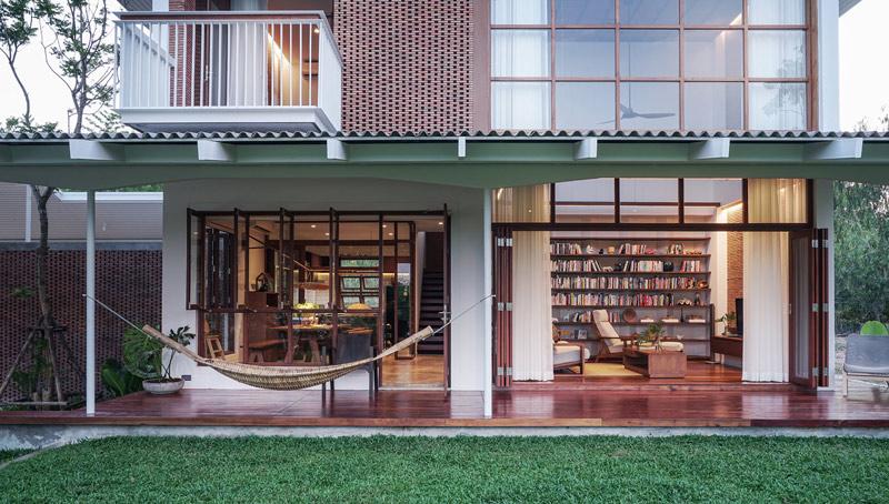 แบบบ้านสองชั้น สวยแบบวิถีไทย โซนพักผ่อนชั้นล่าง
