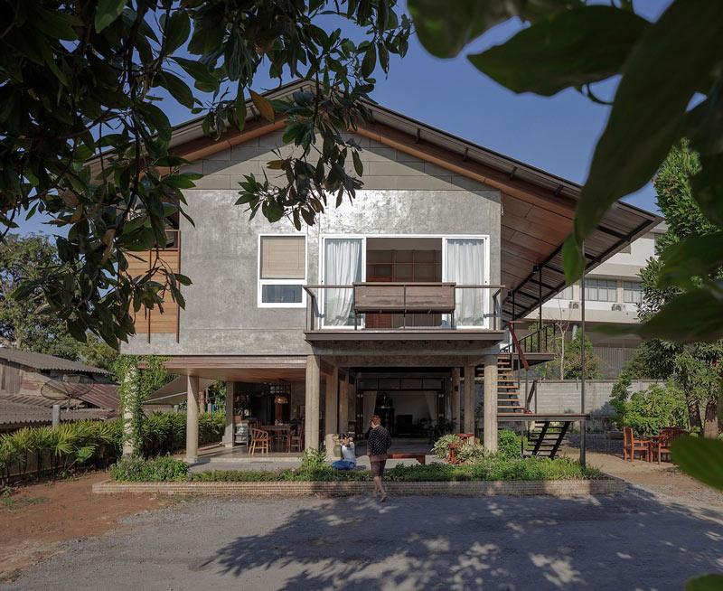 สวยสไตล์ไทย แบบบ้านสองชั้นมีใต้ถุน