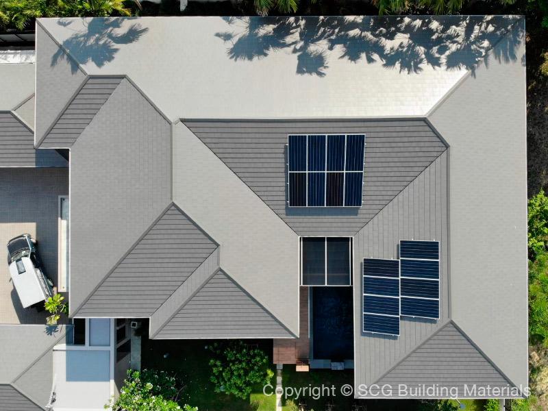 ภาพบ้านตัวอย่างติดโซลาร์ รูฟ